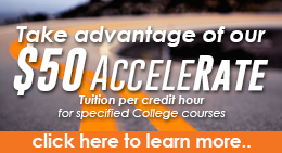 Cowley College $50 AcceleRate FastTrack tuition rate