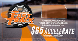Cowley College $50 AcceleRate FastTrack tuition rate for Kansas high school students