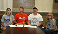 Track and field athletes sign with NCAA schools