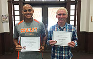 Criminal Justice students recognized