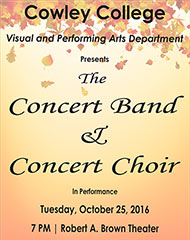 Concert Band and Concert Choir to perform Oct. 25