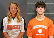 Larsen, Friend named October Athletes of the Month